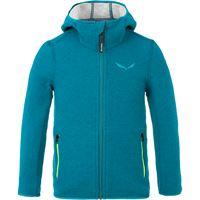 Salewa giacca con cappuccio sarner 2l bambino blu