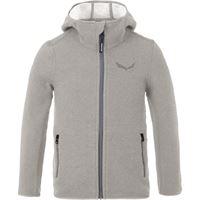 Salewa giacca con cappuccio sarner 2l bambino grigio
