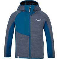 Salewa giacca con cappuccio puez melange bambino blu