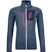 Ortovox giacca fleece grid donna blu