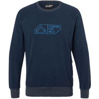 Looking for Wild maglione sweat mouton uomo blu