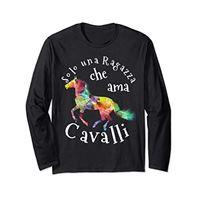 Cool Horse Gifts for Girls solo una ragazza che ama i cavalli regalo per ragazze maglia a manica