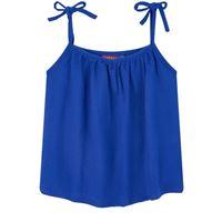 Bakker Made With Love - top in crêpe di cotone - bambina - 2 anni - blu