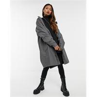 Rains - giacca lunga impermeabile antracite-nero