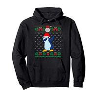 Il Tamponando Corrispondenza Famiglia Natale tamponando pinguino, brutti bambini maglione di natale felpa con cappuccio