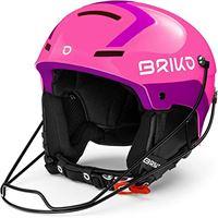Briko slalom casco da sci/snowboard, per adulti, unisex, shiny pink violet, medium