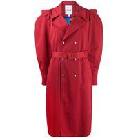 Koché cappotto doppioopetto - rosso