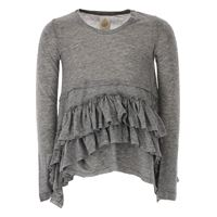 Dondup t-shirt bambina in outlet, grigio, lyocell, 2021, 4y 8y