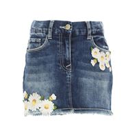 Monnalisa gonna bambina in outlet, blue denim, cotone, 2021, 5y 6y