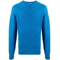 Mackintosh maglione a girocollo hutchins - blu