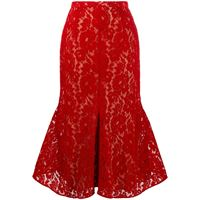 Christopher Kane gonna in pizzo - rosso