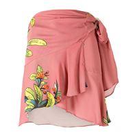 Amir Slama gonna a portafoglio con pannelli a contrasto - rosa
