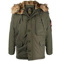 Alpha Industries giacca con cappuccio polar - verde