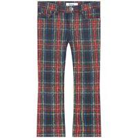 Bonpoint - check and cherry print pantalone nero 4 anni