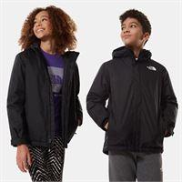 TheNorthFace the north face giacca con cerniera bambini snow quest tnf black/tnf white taglia m donna