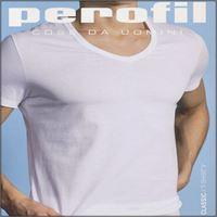 PEROFIL t-shirt in cotone collo v classic 24535 uomo PEROFIL