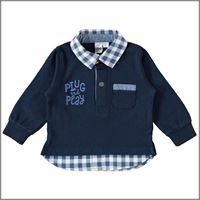 IDO polo manica lunga finta camicia 4w223 bambino IDO