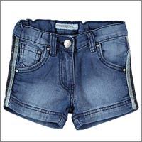 DODIPETTO short di jeans 5w614 bande laterali bambina DODIPETTO
