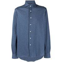 Orian camicia con colletto alla francese - blu