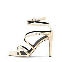 GIUSEPPE ZANOTTI sandali in pelle stampa pitone 105mm