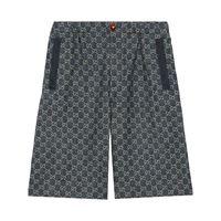Gucci shorts denim gg - blu