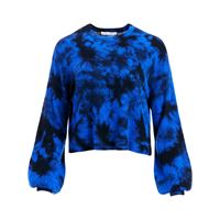 Alice+Olivia maglione con fantasia tie dye ansley - blu