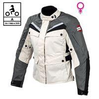 BEFAST giacca moto donna touring befast rocket lady ce certificata 3 strati nero grigio