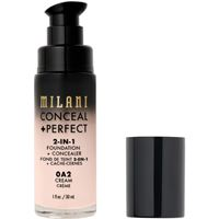 Milani 0a2 cream conceal + perfect 2-in-1 foundation + concealer correttore 30ml