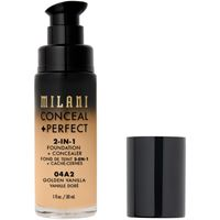 Milani 04a2 golden vanilla conceal + perfect 2-in-1 foundation + concealer correttore 30ml