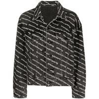Alexander Wang giacca con logo all-over - nero