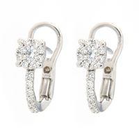 Crivelli orecchini monachina oro bianco diamanti crivelli