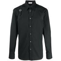 Alexander McQueen camicia con dettaglio a righe - nero