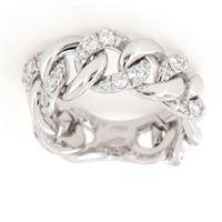 Crivelli anello fascia morbida groumette diamanti crivelli