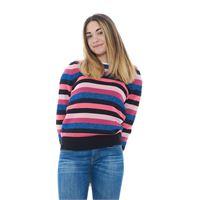 Moncler maglia donna a righe multicolor