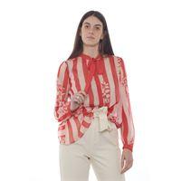 Twinset camicia donna fantasia fiori su righe 201tp2302