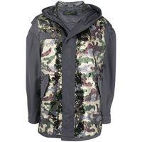 Mr & Mrs Italy cappotto con stampa camouflage - grigio