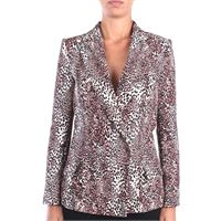 Elisabetta Franchi giacca donna animalier con revers