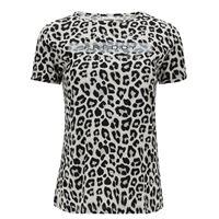 Freddy t-shirt fantasia leopardata con stampa sul fronte