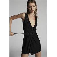 Dsquared2 donna vestito nero taglia 36 100% seta