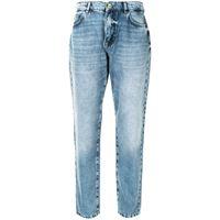TWINSET jeans svasati a vita alta - blu