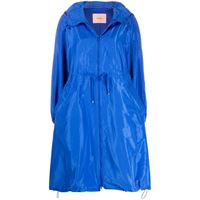 Twin-Set impermeabile oversize - blu