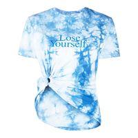 Paco Rabanne t-shirt lose yourself con fantasia tie dye - blu