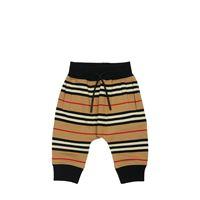 BURBERRY pantaloni in felpa di cotone