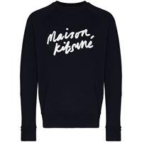 Maison Kitsuné maglione con logo - blu