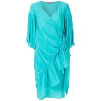 Clube Bossa vestito con nodo zermie - blu