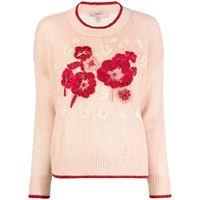 TWINSET maglione con ricamo - rosa