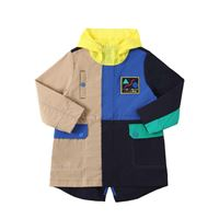 LITTLE MARC JACOBS parka in nylon color block con cappuccio