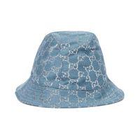 Gucci cappello da pescatore in lana e lamã©