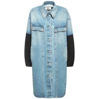 MM6 MAISON MARGIELA giacca in denim e jersey