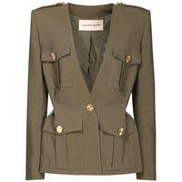ALEXANDRE VAUTHIER giacca in crepe di cotone e viscosa